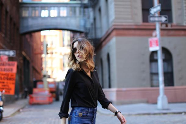 sarah co mode ton look blogger jeans april 77 shirt shoes