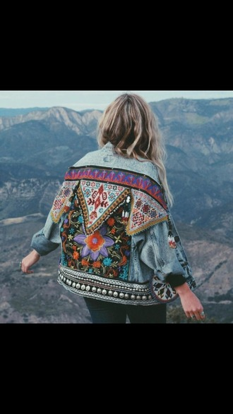 jacket embellished jacket embroidered embroidered jacket denim jacket