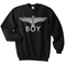 Boy london eagle black sweatshirt - basic tees shop