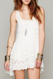 dress,chic,hollow out dress,lace paneled,white dress,mini dress