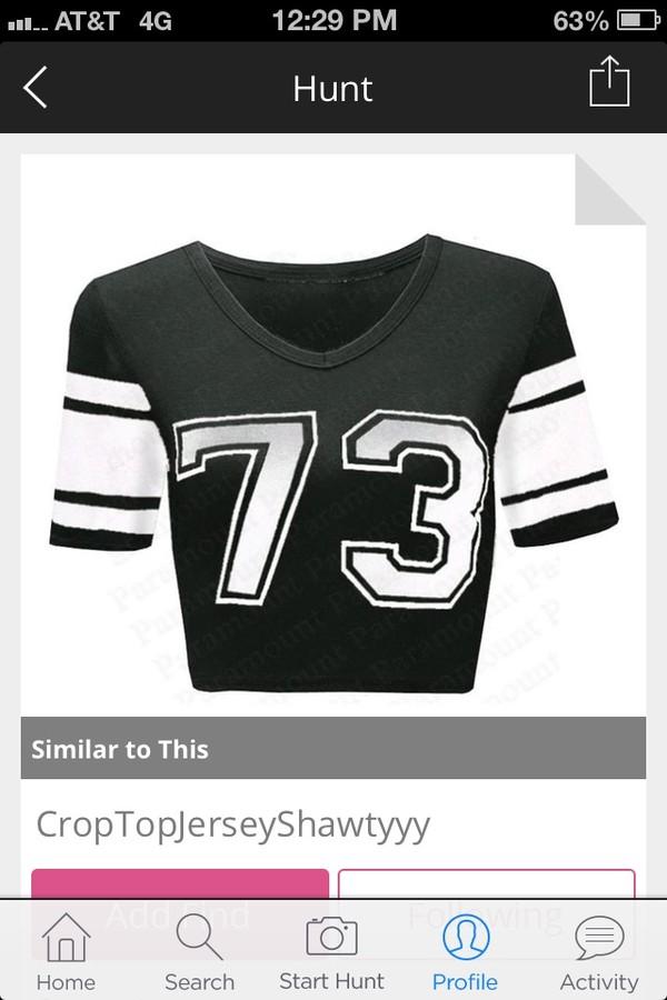 t-shirt jersey croptop