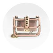 bag,transparent  bag,studs,Valentino,designer bag