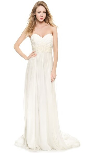 gown strapless cream dress