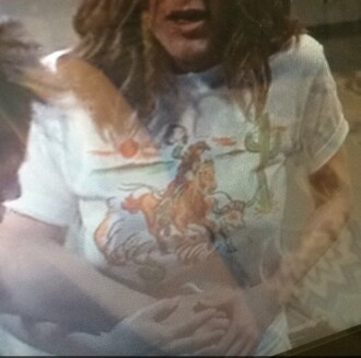 t-shirt white cactus rachel green jennifer aniston cowboy western