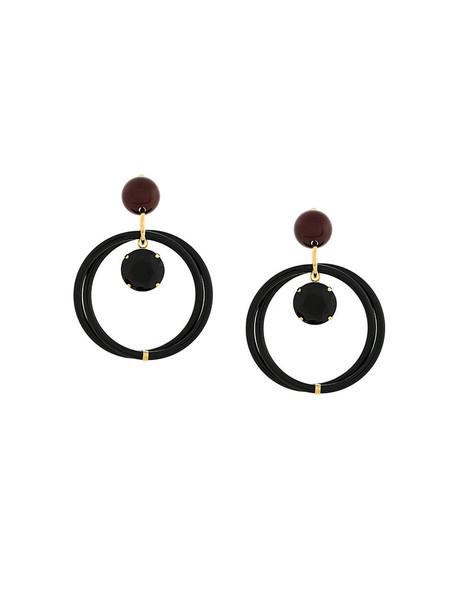 MARNI women earrings black jewels