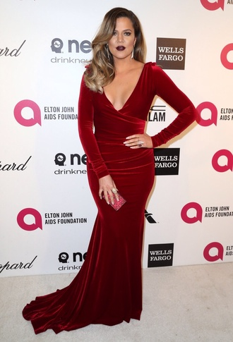 dress marc bouwer velvet burgundy oscars 2014 khloe kardashian velvet dress long sleeve dress ball gown dress oscars burgundy dress red velvet dress maxi skirt red dress