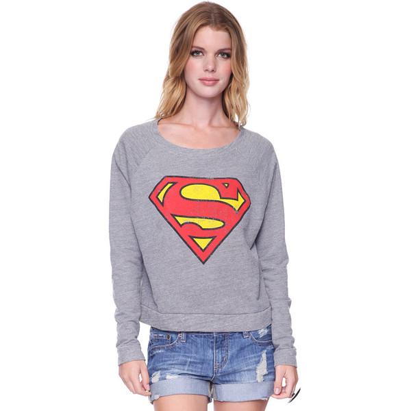 Superman Raglan Sweatshirt - Forever 21 - Polyvore