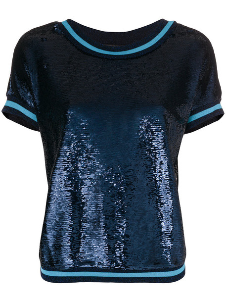 Twin-Set t-shirt shirt t-shirt women spandex blue top
