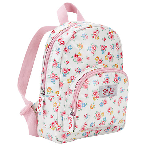 Buy Cath Kidston Freston Rose Rucksack, White/Multi online at John Lewis