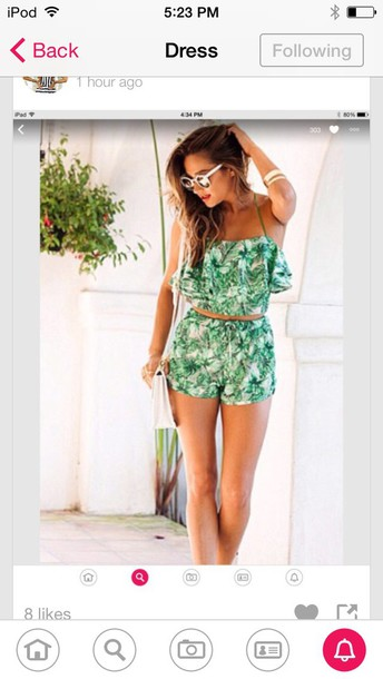 jumpsuit shay mitchell green white