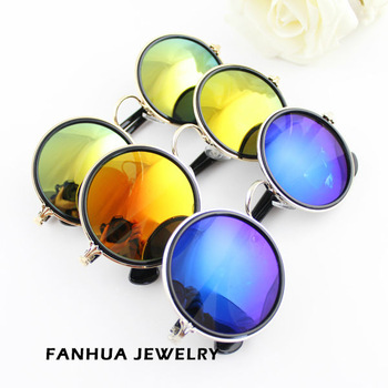 Newest 2014 Fashion Design Round  Colorful Lens Sunglasses With Glasses Box For Adult-in Sunglasses from Apparel & Accessories on Aliexpress.com