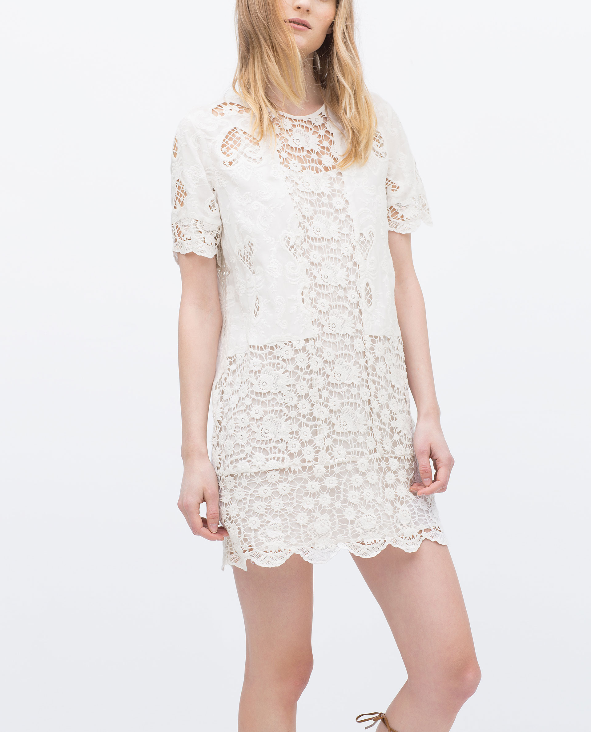 Lace Dress Mini Dresses Woman Sale Zara United States