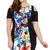 Black Floral Print Bare Shoulder Bodycon Dress