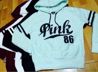 jacket pink sweater hoddie pink by victorias secret