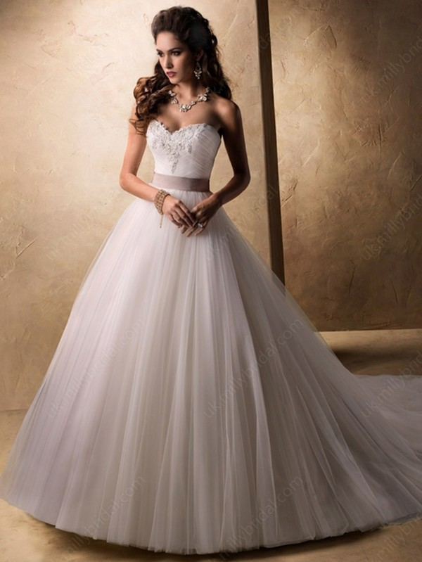 dress ball gown dress sweetheart dress lace wedding dress
