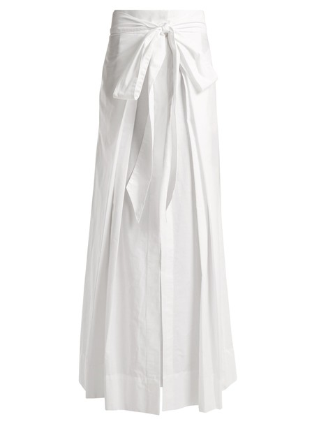 KALITA skirt pleated cotton white