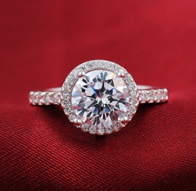Sterling silver cubic zirconia engagement ring · corner stop · online store powered by storenvy