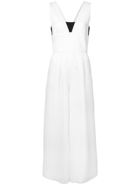jumpsuit women white silk