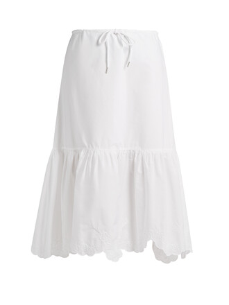 skirt drawstring cotton white