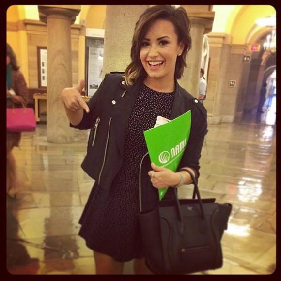 jacket black jacket dress Demi Lovato