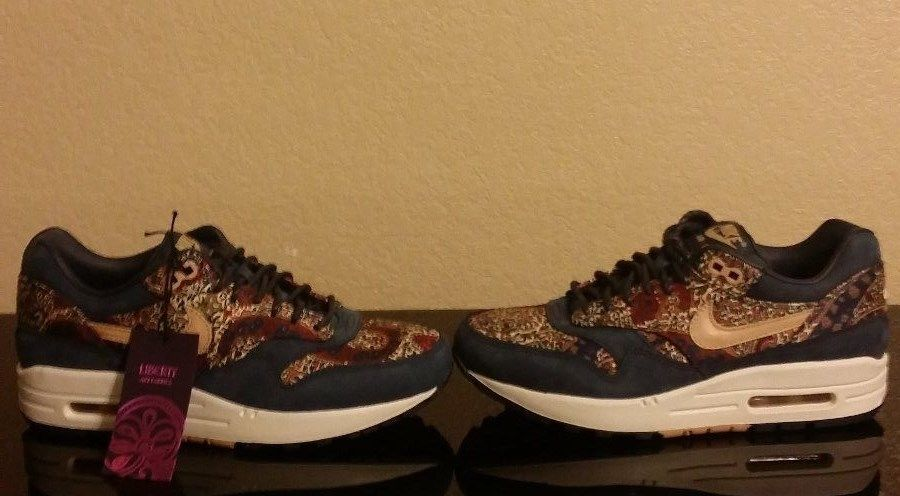 NIKE AIR MAX 1 LIB QS LIBERTY LONDON ARMORY NAVY/SAIL SZ WOMENS 5.5 [540855-402]
