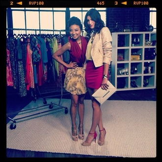 blouse jeannie mai jeanniemai sleeveless top sleeveless blazer dark pink red feminin plunge v neck sexy elegant shoes