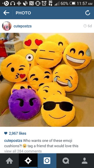 bag emoji print emoji pillow pillow smiley love boring like gorgeaus style emoji pants home accessory
