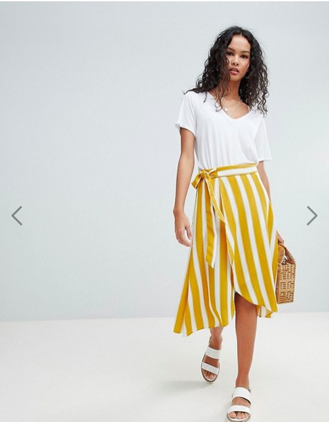 79e812f033 skirt, striped skirt, yellow and white stripes, yellow stripes ...