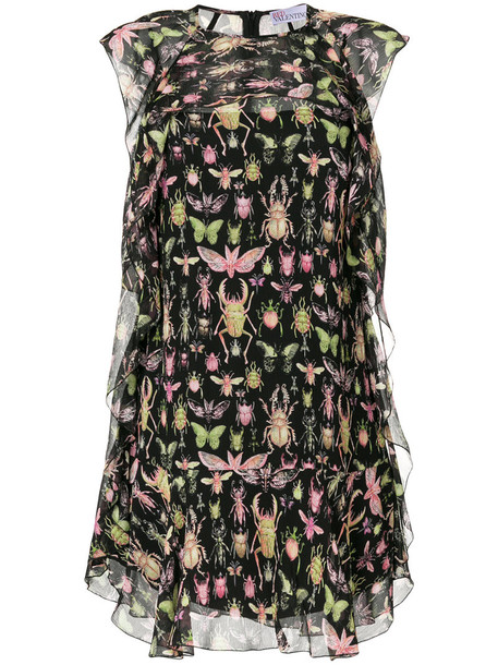 RED VALENTINO dress print dress women print black