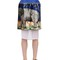 Printed neoprene & techno chiffon skirt