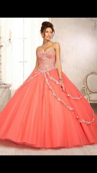 dress prom dress sweet 16 dresses salmon