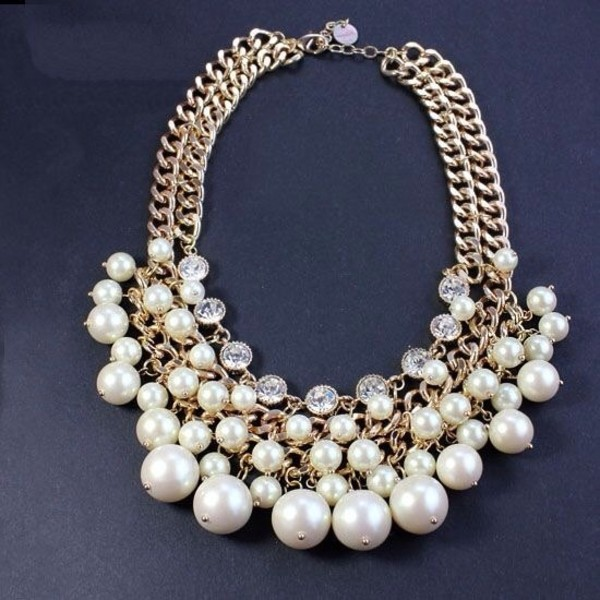 jewels pearl necklace accessories gold chain necklace