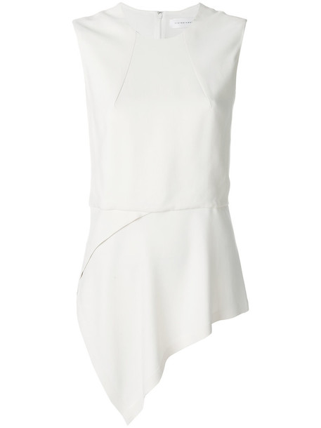 Victoria Beckham blouse women spandex white silk top