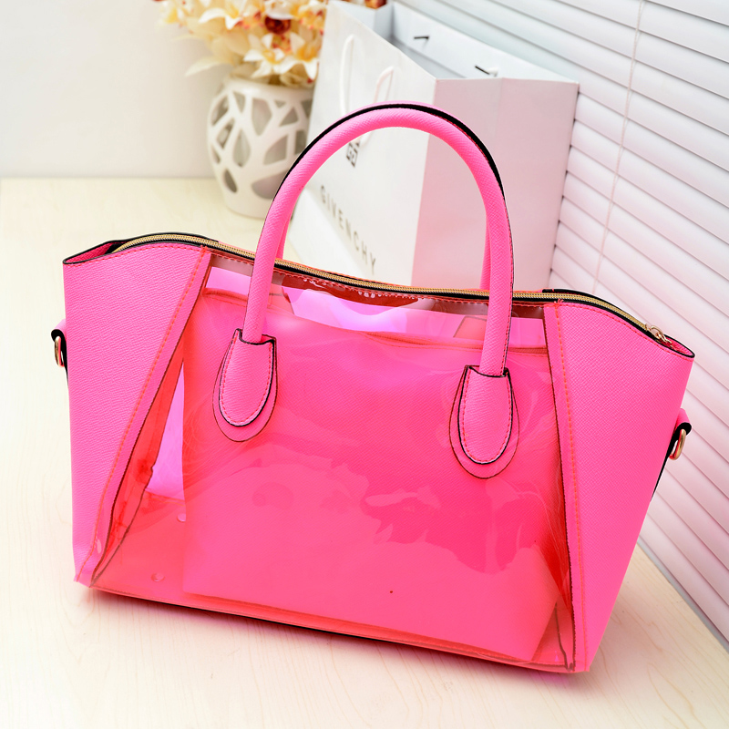 Summer sand beach transparent bag crystal female bags sugar jelly bag neon smiley bag 2013 handbag-inOthers from Luggage & Bags on Aliexpress.com