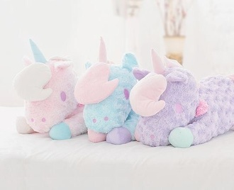 kawaii dope style pastel stuffed animal unicorn easter kids room