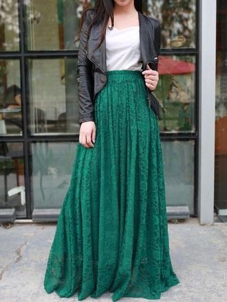 skirt green skirt green lace green lace skirt pleated skirt maxi skirt lace skirt lace maxi skirt full length