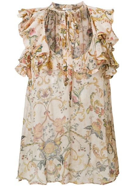 Zimmermann blouse women nude silk top
