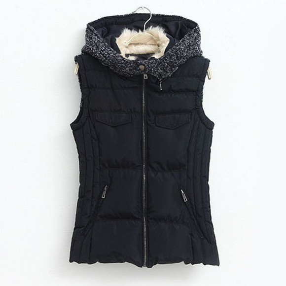 coat hood leisure vest