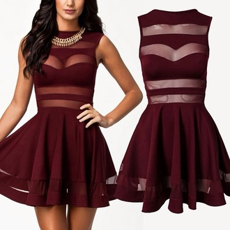 dress mesh skater dress 1x 2x 3x red dress see through dress hoco dress hoco hocodress homecoming homecoming dress burgendy burgundy dress party dress cocktail dress party outfits date outfit bodycon bodycon dress skater skater skirt patchwork mesh dress