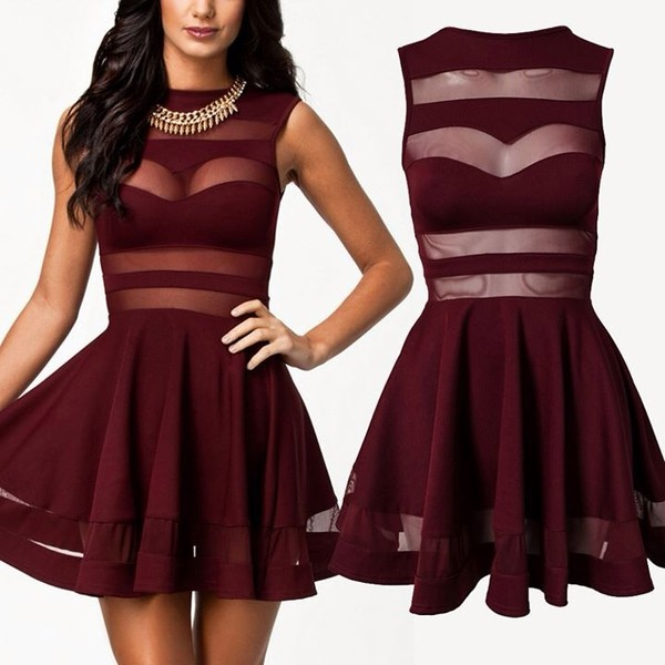 dress mesh skater dress 1x 2x 3x red dress see through dress hoco dress hoco hocodress homecoming homecoming dress burgendy burgundy dress party dress cocktail dress party outfits date outfit burgundy dress