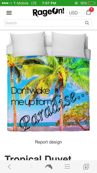 home accessory tropical duvet cover cute comforter cute bed tropical colorful bed comforter palm tree bedding
