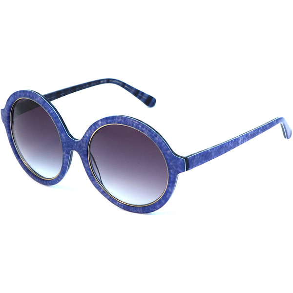 Heidi London Denim Print Circular Sunglasses - Polyvore