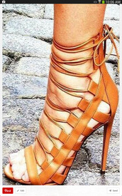 shoes,lace up,heels,peep toe,sandals,brown,brown high heels,high heel sandals,lace up heels,brown sandals