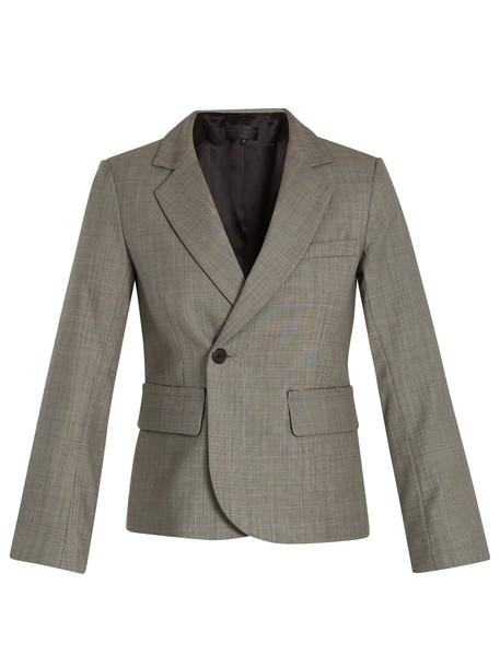 blazer wool grey jacket