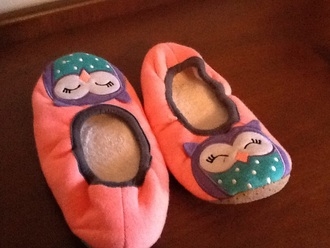 pajamas owl sleeping fluffy pink shoes