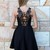 Black Little Black Dress - Black Lace Back Cutout Bodice | UsTrendy