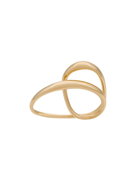 Charlotte Chesnais heart women ring gold silver grey metallic jewels