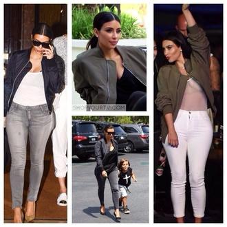 jacket kim kardashian bomber jacket