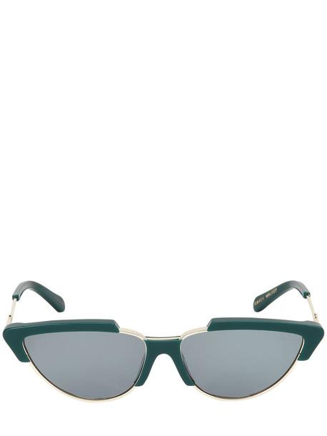 KAREN WALKER Tropics Emerald Sunglasses in green