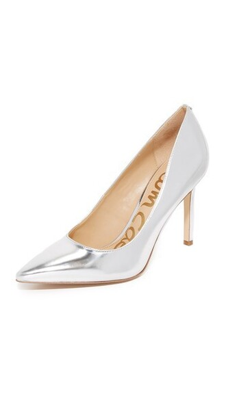 soft pumps silver shoes